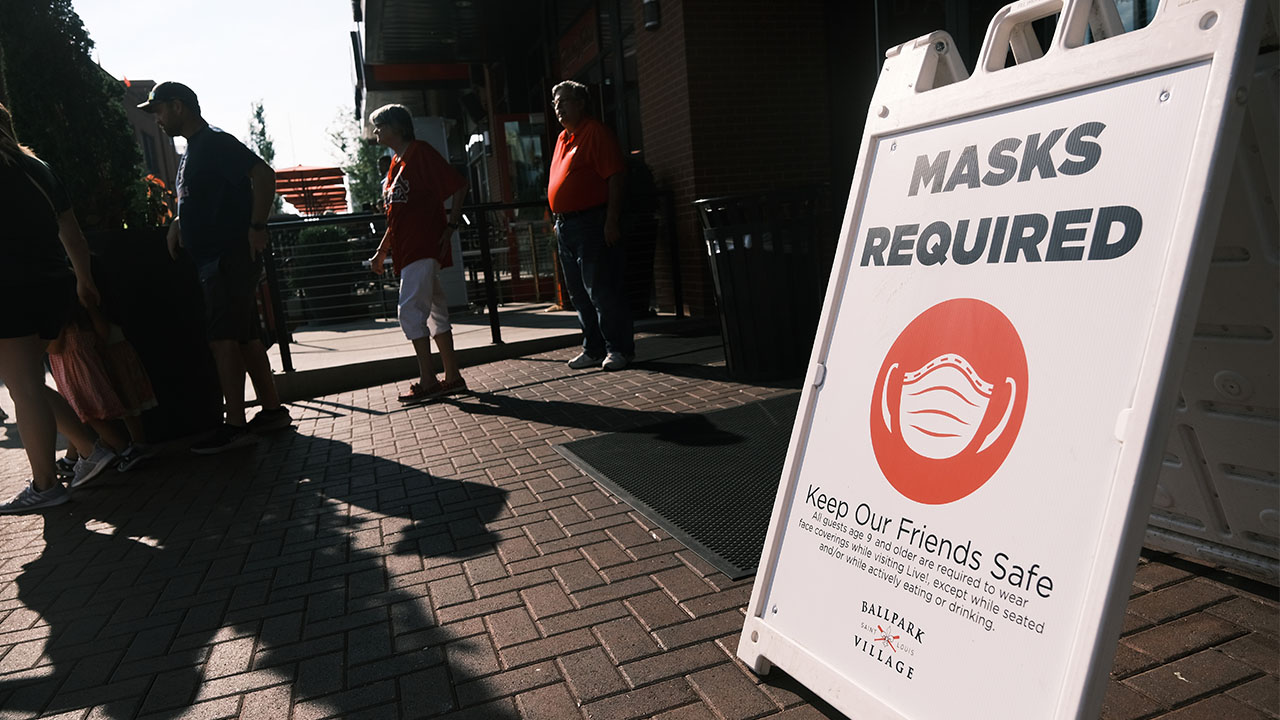 Missouri covid mask sign